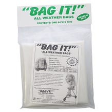 "BAG IT! 84 x 70"" 6-Mil Visqueen Bags/Tarps/Rain Covers - Medium, Clear"