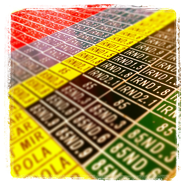 English Stix Frame Rate Tag Set - Red