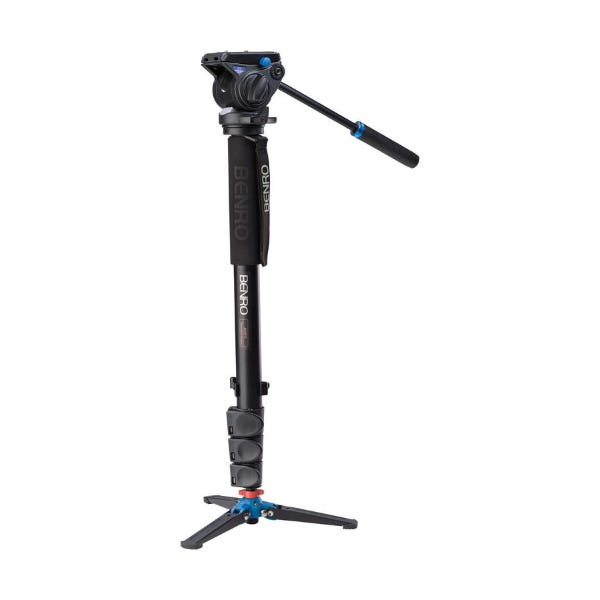 Benro A48FDS4 Series 4 Aluminum Monopod with 3-Leg Locking Base and S4 Video Head