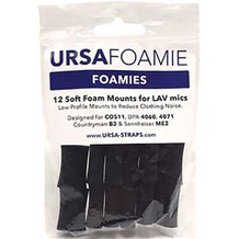 Ursa Foamies 12 Foam Mounts for Lavalier Microphones - Black