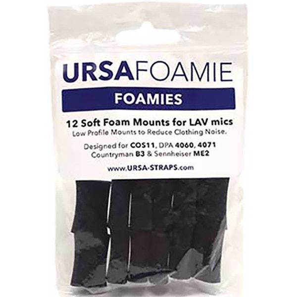 Ursa Foamies 12 Foam Mounts for Lavalier Microphones - Black