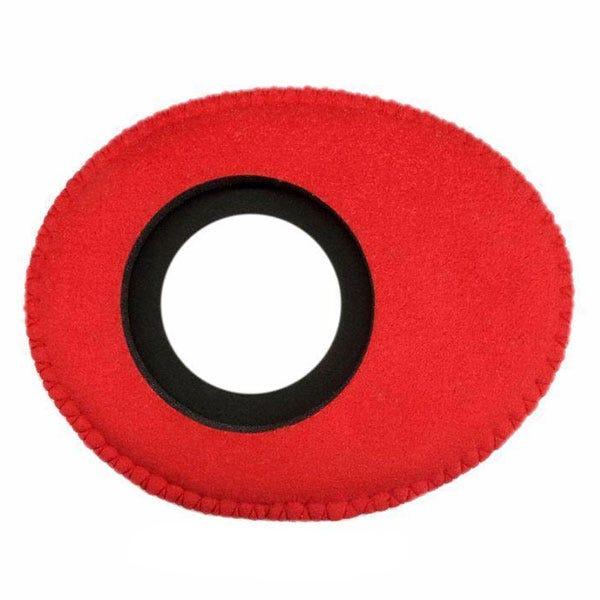 Bluestar Ultrasuede Eyepiece Cushions - Oval Long (Red)