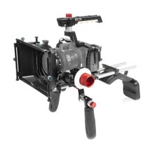 "SHAPE Cage Kit with Matte Box, Follow Focus, Shoulder Mount & 18"" 15mm Rods for Blackmagic Design Pocket Cinema 6K & 4K"