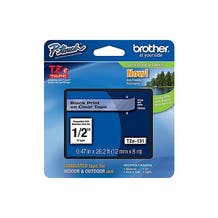 Brother P-Touch TZe Label Tape with Black Letters - Clear (Various)