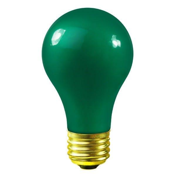 Bulbrite A19 60W 120V Green Globe