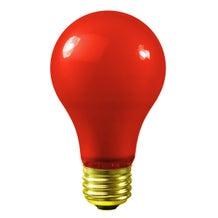 Bulbrite A19 Globe - Red (60W, 120V)