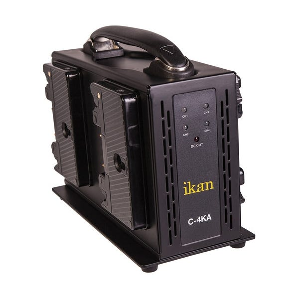 ikan C-4KA Gold Mount Portable Quad Battery Charger