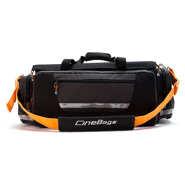CineBags Production Bag - Black and Gray with Orange Webbing