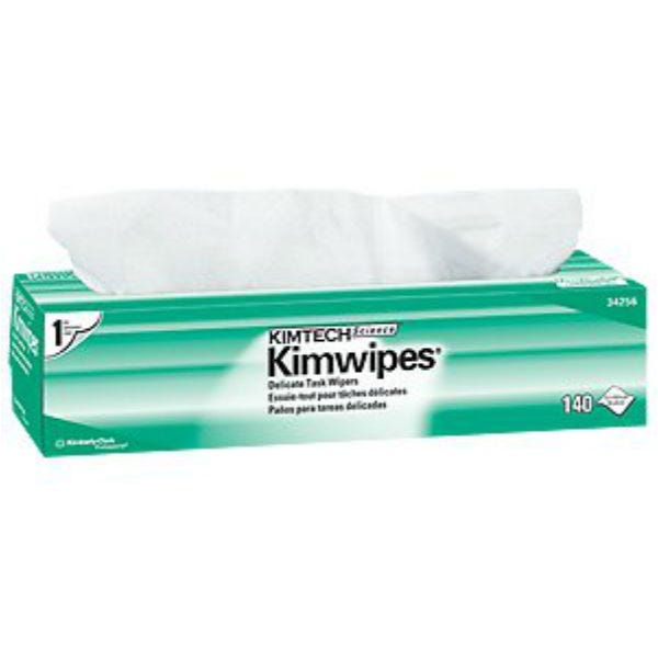 """Kimtech Science Kimwipes 1-Ply Delicate Task Wipes 14.7""""x16.6"""" (140 sheets) 34256"""