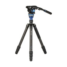 Benro C3883 Reverse-Folding Carbon Fiber Travel Tripod with S6Pro Fluid Video Head