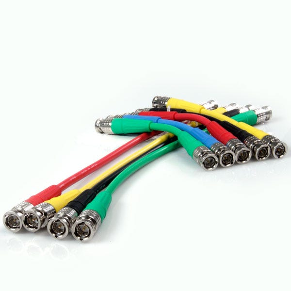 "Canare 6"" Digital Flex SDI BNC Cable - Green"