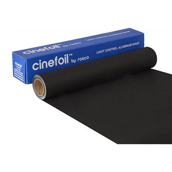 "Rosco 24"" x 25' Matte Black Cinefoil"