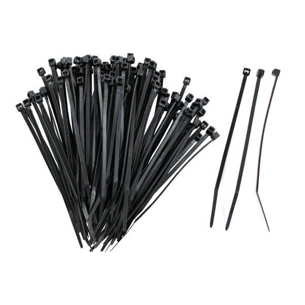 "Zack Electronics 11"" Cable Ties - Black (100 Pack)"