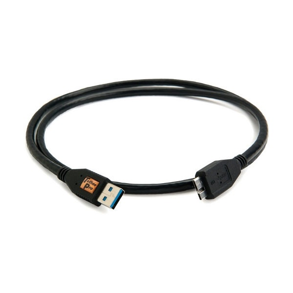 Tether Tools 3' TetherPro USB 3.0 Male Type-A to USB 3.0 Micro-B Cable - Black