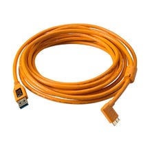 Tether Tools 15' USB 3.0 Type-A Male to Micro-USB Right-Angle Male Cable - Orange