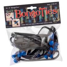 BongoTies Cable Ties - Azure, 10 Pack