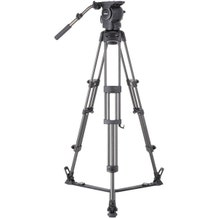 Libec Professional Carbon Piping Tripod System with Floor-level Spreader for ENG Setups