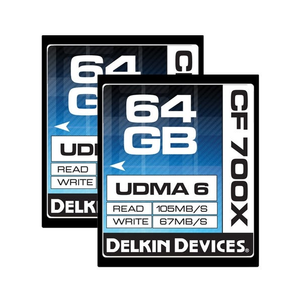 Delkin Devices 64GB CompactFlash 700x UDMA Memory Card - 2 Pack
