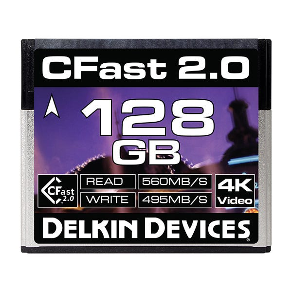 Delkin Devices 128GB Cinema CFast 2.0 Memory Card