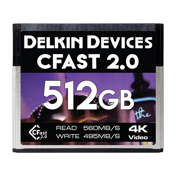 Delkin Devices 512GB Cinema CFast 2.0 Memory Card