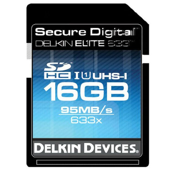 Delkin Devices 16GB Elite UHS-I SDHC Memory Card