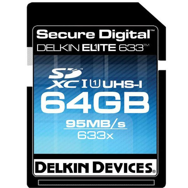 Delkin Devices 64GB Elite UHS-I SDHC Memory Card
