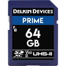 Delkin 64GB Prime UHS-II SDXC Memory Card