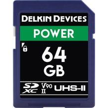 Delkin 64GB Power UHS-II SDXC Memory Card