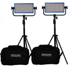 Dracast LED500 Pro DayLight LED 2-Light Kit With V-Mount Battery Plates