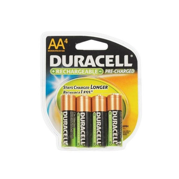 Duracell AA Staycharged Rechargeable Battery - 4 Pack