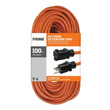 Prime EC501735 100ft. 14/3 Extension Cable - Orange