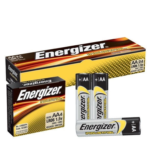 Energizer AA Industrial Battery- Alkaline - 24 Pack
