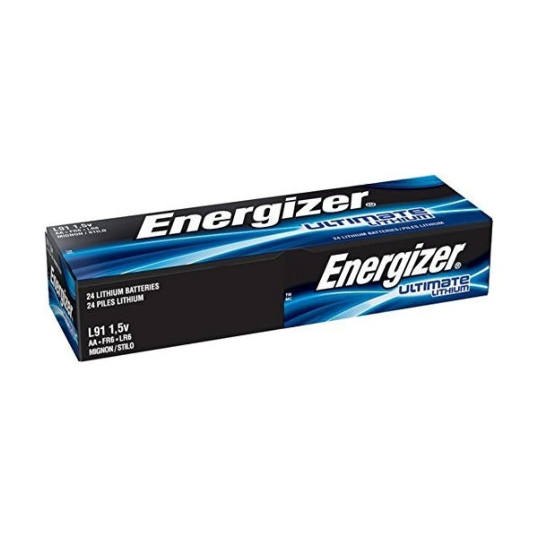 Energizer AA Ultimate Battery - Lithium - 24 Pack