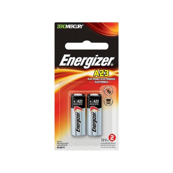 Energizer A23 12V Miniature Alkaline Battery (55mAh, 2-Pack)