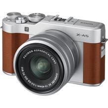FUJIFILM X-A5 Mirrorless Digital Camera with 15-45mm Lens - Brown