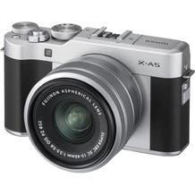 FUJIFILM X-A5 Mirrorless Digital Camera with 15-45mm Lens - Silver