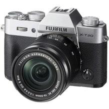 FUJIFILM X-T20 Mirrorless Digital Camera with 16-50mm Lens - Silver