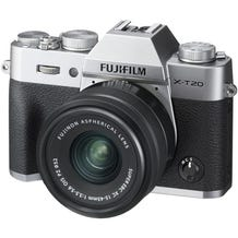 FUJIFILM X-T20 Mirrorless Digital Camera with XC 15-45mm Lens - Silver