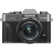 FUJIFILM X-T30 Mirrorless Digital Camera with 15-45mm Lens - Charcoal Silver
