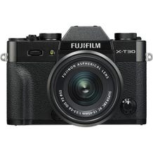 FUJIFILM X-T30 Mirrorless Digital Camera with 15-45mm Lens - Black