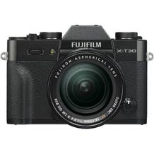 FUJIFILM X-T30 Mirrorless Digital Camera with 18-55mm Lens - Black