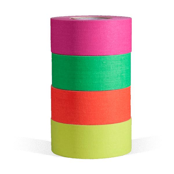 """microGaffer 1"""" 4-Roll Gaffer Tape - Fluorescent"""