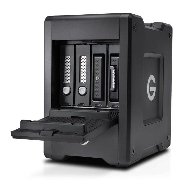 G-Technology 20TB G-SPEED Shuttle 4-Bay Thunderbolt 3 RAID Array with Two ev Bay Adapters
