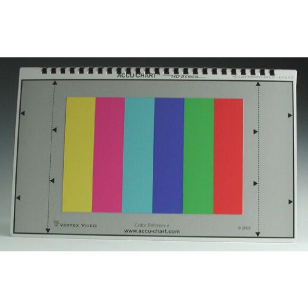 Accu-Chart HDCR. High Definition Color Reference Chart