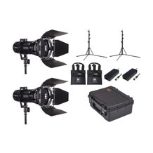HIVE LIGHTING 2-Piece Wasp 100-C LED Spot Light Kit with 2 Stands & Case