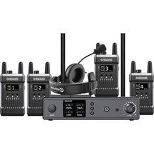 Hollyland Full Duplex Wireless Intercom System (1 Base Station and 4 Beltpacks)