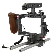 ikan Tilta Handheld Camera Cage Rig with Wooden Handle for Panasonic GH4 and GH5