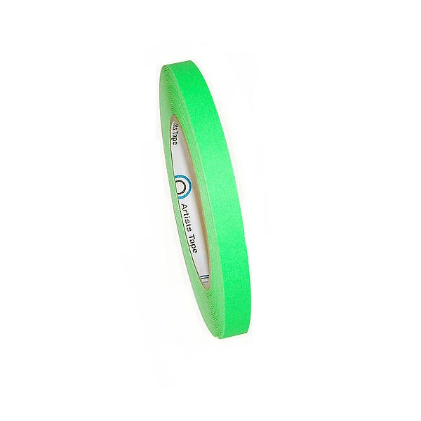 "ProTapes 1/2"" Paper Tape - Fluorescent Green"