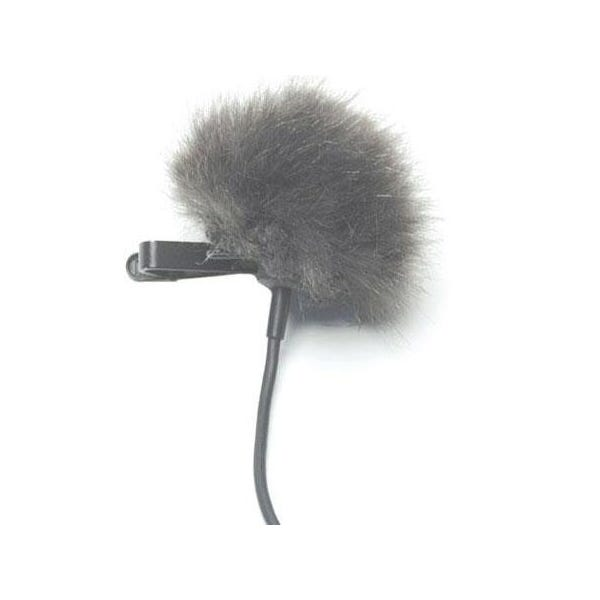 K-Tek Fuzzy Shower Cap for Lavalier Mic - Grey KLTFG
