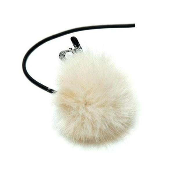 K-Tek Fuzzy Shower Cap for Lavalier Mic - Tan KLTFT